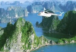 Way to Halong Bay by air