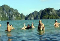 Halong Bay swimming activities