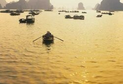 Way to Halong Bay by water